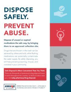 Flyer about safe drug disposal